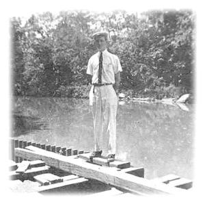 Artis Adams on Ohio River Rail Bridge